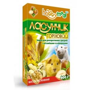 Корм ХОББИ МИЛ Ласунчик Ореховый мелких и средних грызунов 0,6 кг