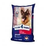 """CLUB 4 PAWS ПРЕМИУМ """"АКТИВ"""". Полнорационный сухой корм для взрослых активных собак всех пород 14 кг"""