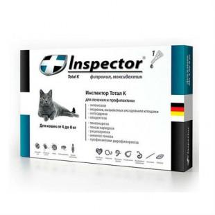 Инспектор Тотал К капли для кошек 4-8 кг 1 * 0.8 мл