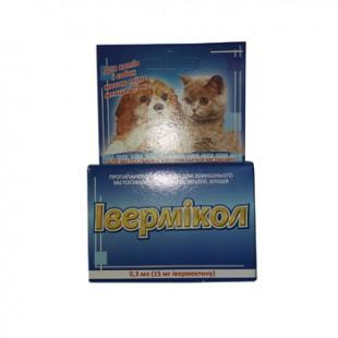 Ивермикол капли от блох и клещей для собак до 2,5 кг