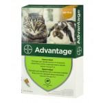 Адвантейдж для котов до 4 кг, 0,4 мл, 4 пипетки