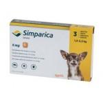 Симпарика 5 мг 1 шт, жевательные таблетки для собак 1,3-2,5 кг
