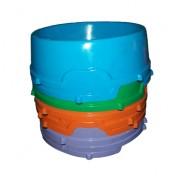 Миска пластиковая  1,2 л (цвета в ассортименте)