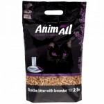 Наполнитель AnimALL древесный 2,8 кг с ароматом лаванды