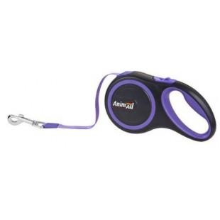 AnimALL рулетка-поводок до 15кг/3метра S Фиолетовый-черный
