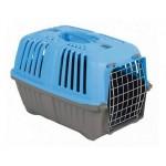 Переноска для кошек и собак PRATICO 2 голубая (55х36х38см, до 18кг) дверь железная