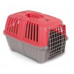 Переноска для кошек и собак PRATICO 2 красная (55х36х38см, до 18кг) дверь железная